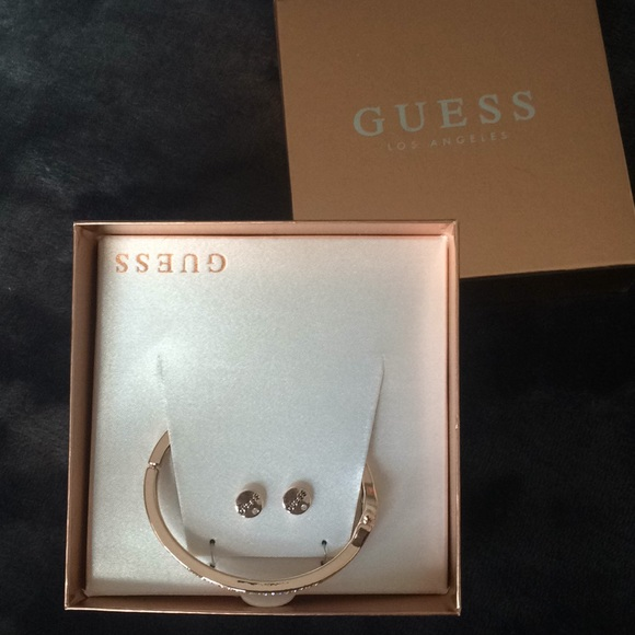 Guess Jewelry - Guess rose gold earring and bracelet set